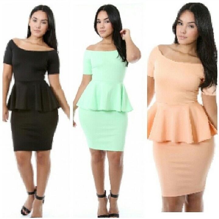 peplum plus size dress sold by Enchanting Bijou