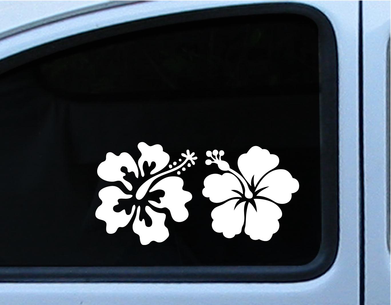Hibiscus reflective flower set of 2 decal vinyl die cut stickers 5 hibiscus reflective flower set of 2 decal vinyl die cut stickers 5 inch in multiple of izmirmasajfo