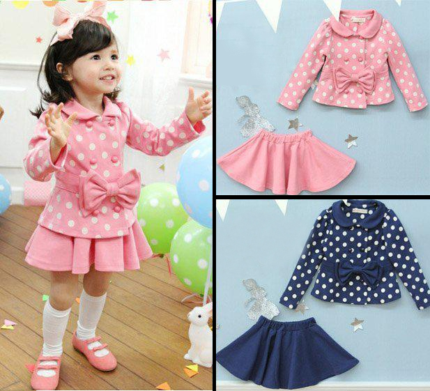 9e726b368a1e7 Pink and white polka dot skirt and jacket on Storenvy