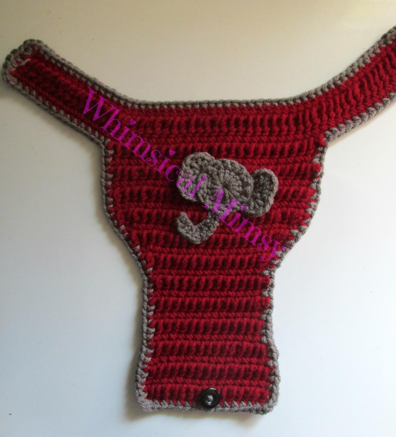 50cb6cd8159 ... Crochet Alabama Football Inspired Newborn Hat and Diaper Cover Set  Photo Prop - Thumbnail 3 ...