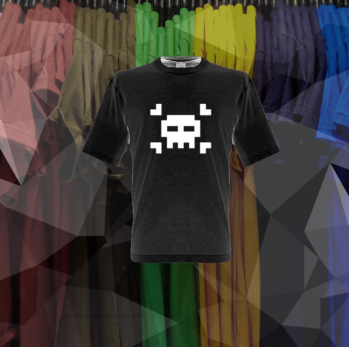 8 Bit Skull shirt - Relive the days of the Atari 2600 with this great shirt  - Perfect for the nerd in your life! from ShirtsAndGigglesEtc