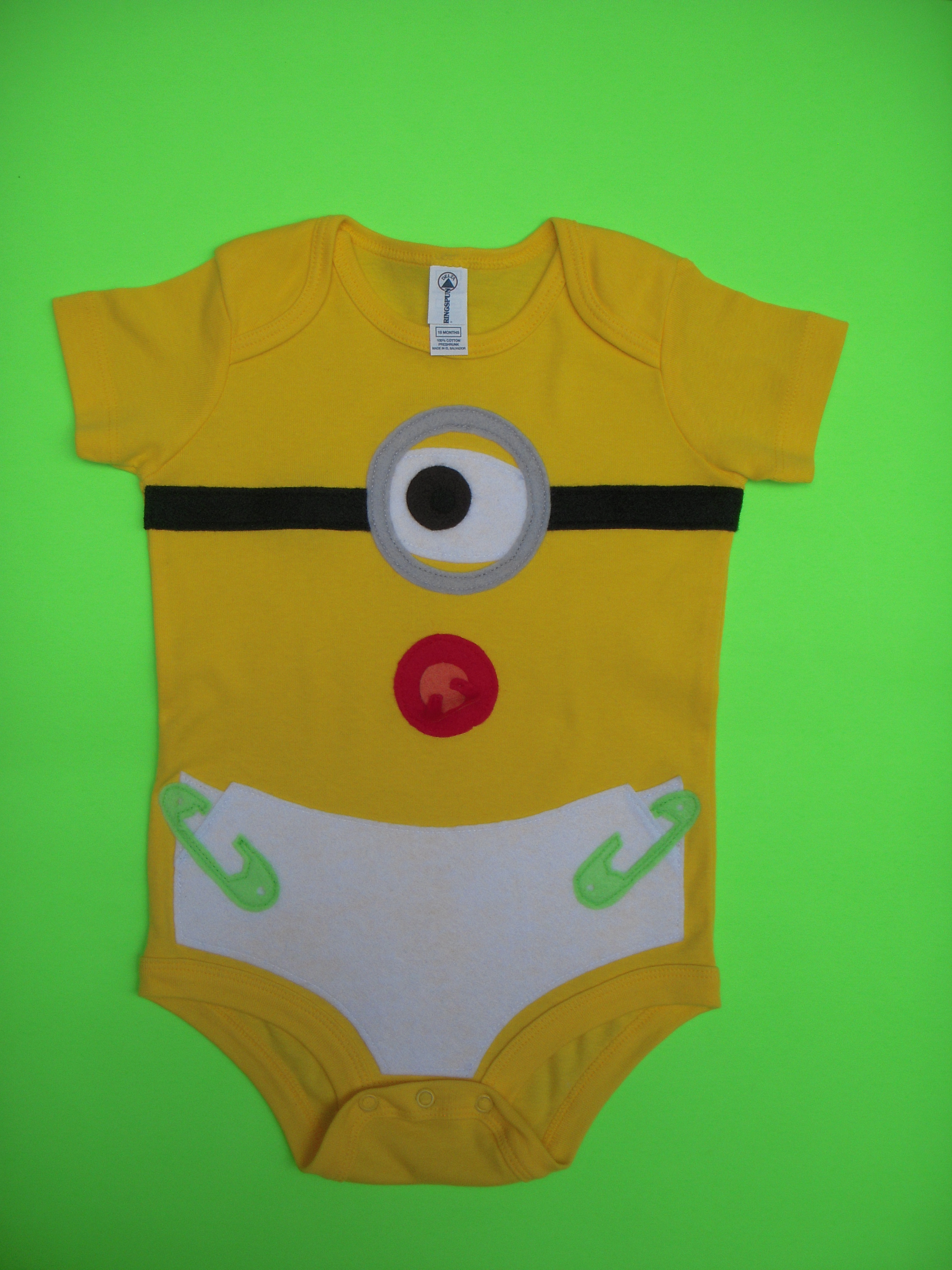 Despicable Me Inspired One Eyed Minion Onsie ADD Personalized Name Number Option