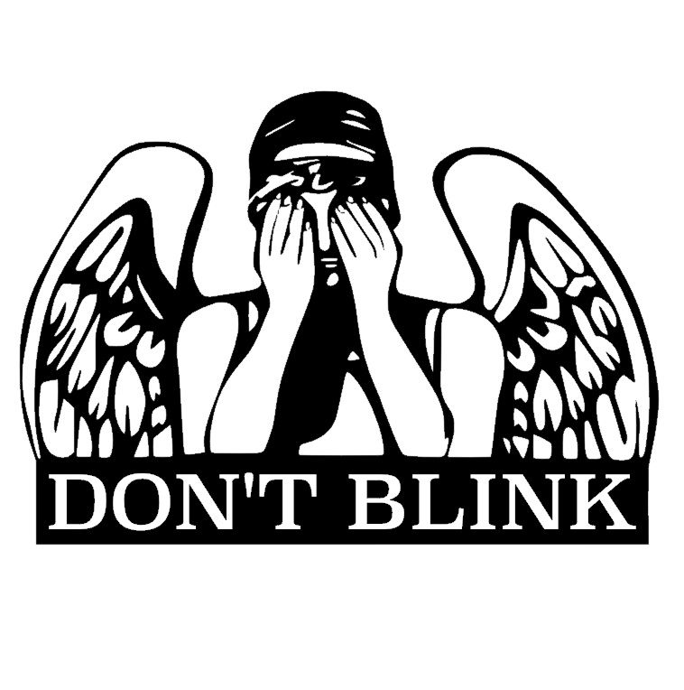 4 25x 6 Doctor Who Dont Blink Vinyl Decal Sticker Winking