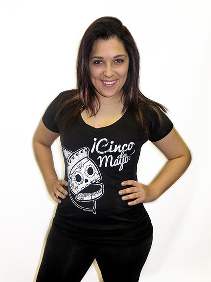 14ced1f1 Cinco De Mayo Sugar Skull V-NECK T-Shirt Mexico Mexican Sexy Cute Tattoo