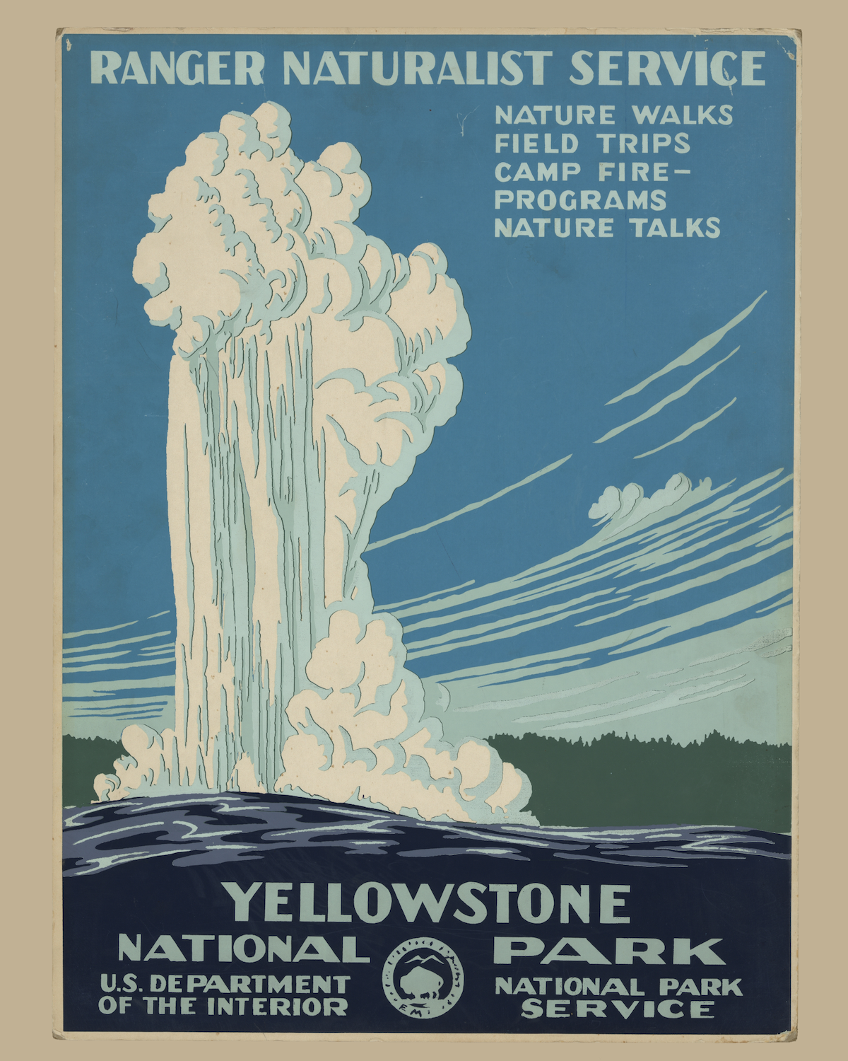 National Park Prints: Yellowstone National Park Vintage Poster · Sonder Prints