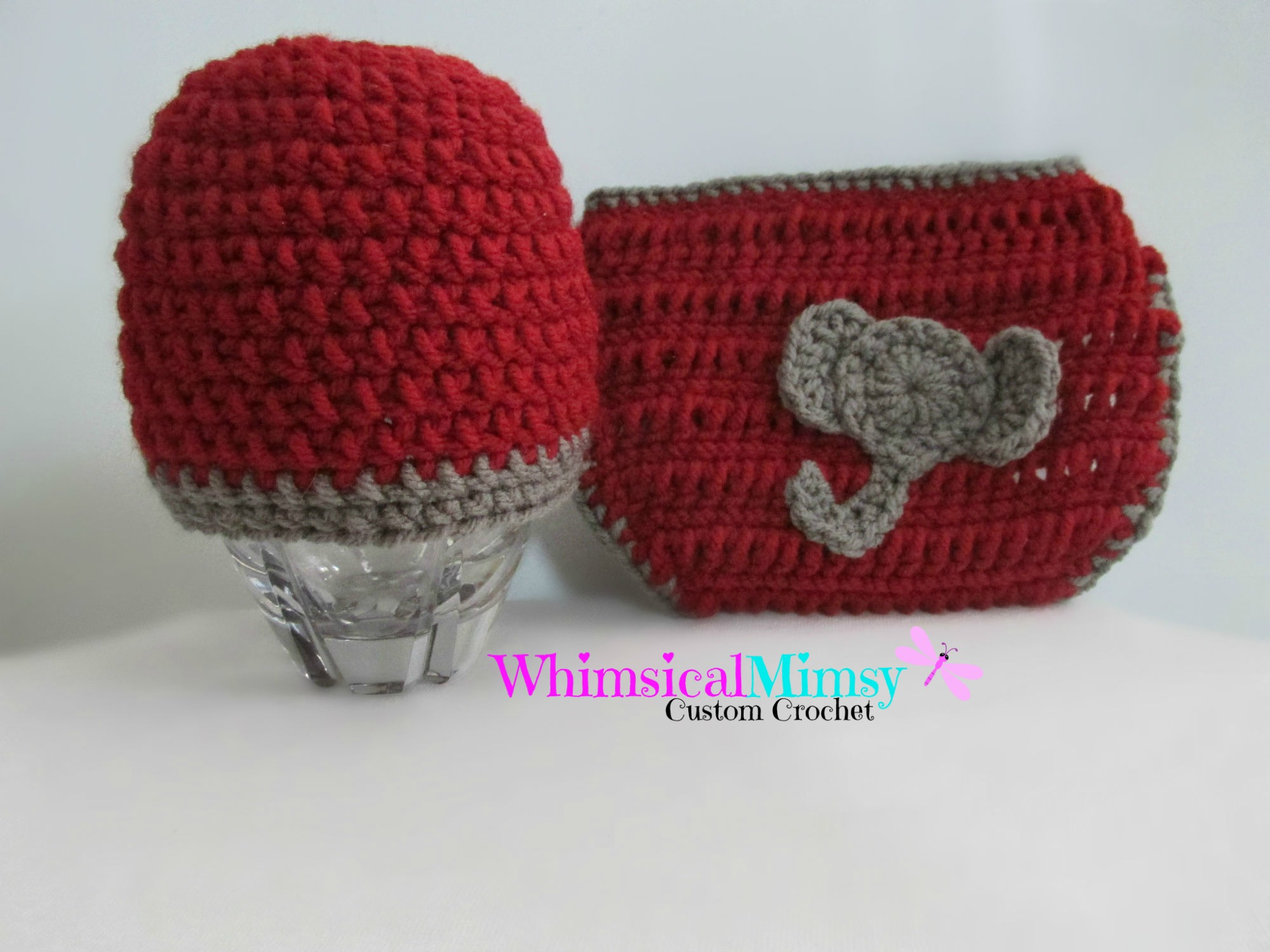 dc44ceb2bcc Crochet Alabama Football Inspired Newborn Hat and Diaper Cover Set Photo  Prop on Storenvy