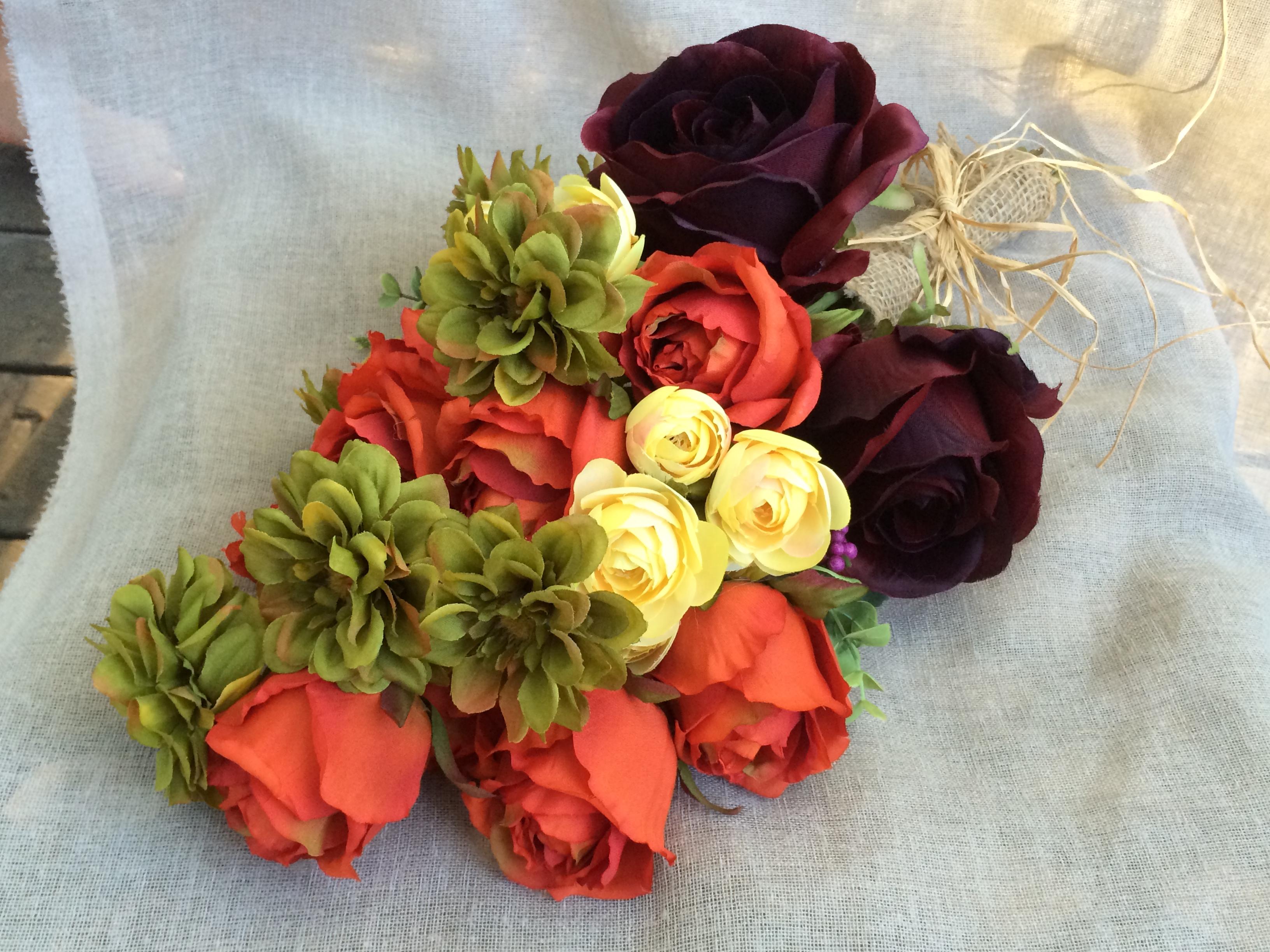 Rustic Burgundy Bridal Bouquet
