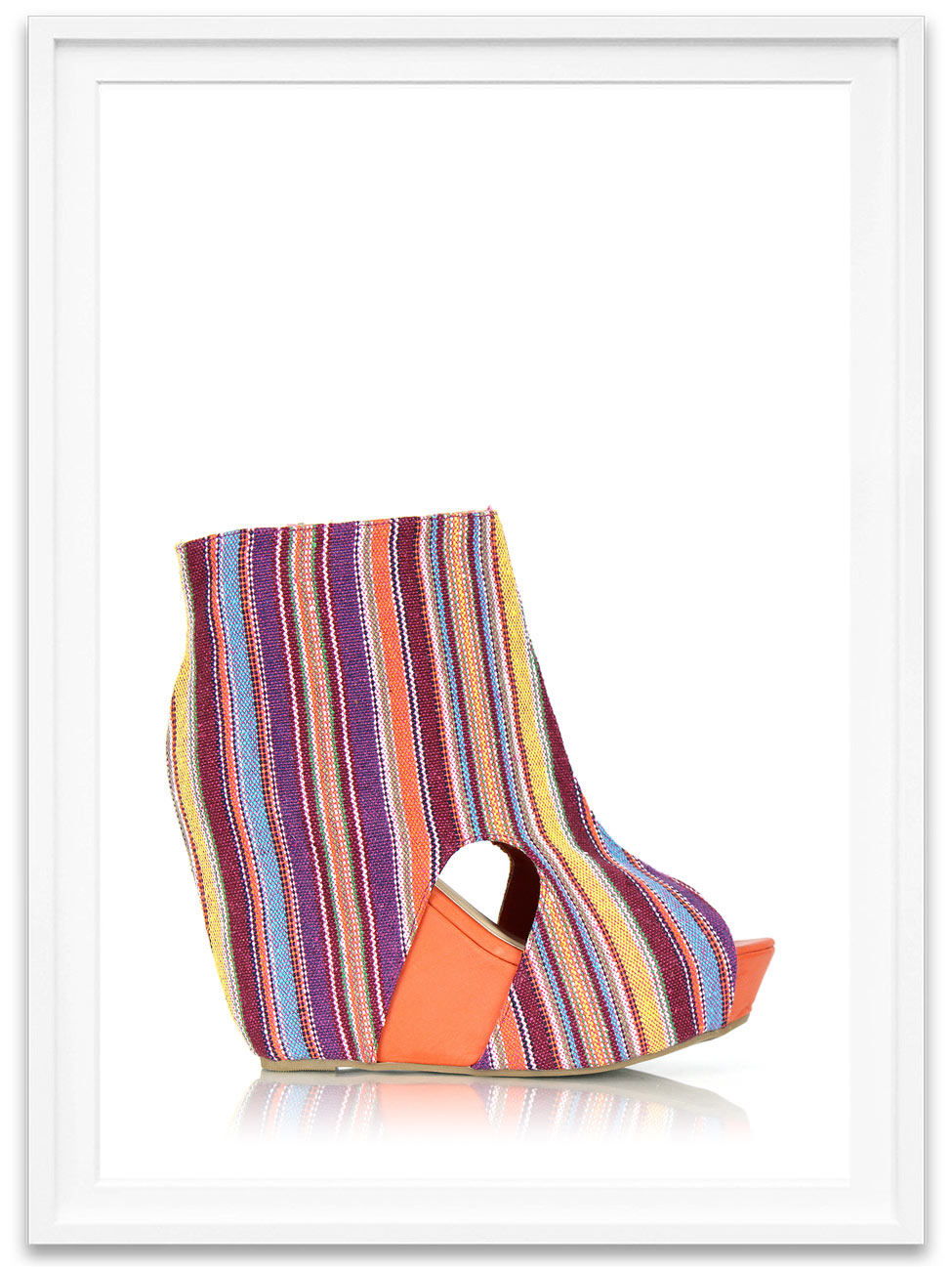 248536d3066 Colorful Canvas Wedge Booties ...