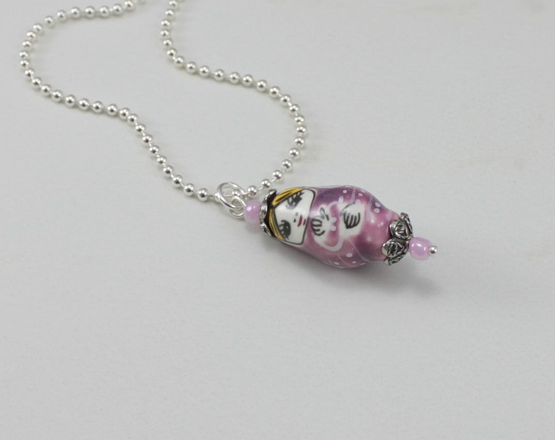 SariBlue | Purple Matryoshka Doll Charm Necklace | Online ...