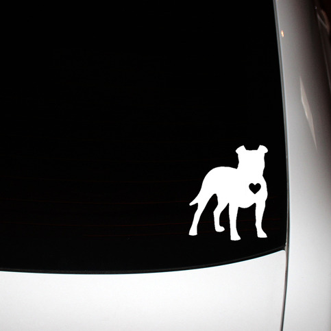 Standing Side Floppy Ear Pit Bull Window Decal On Storenvy
