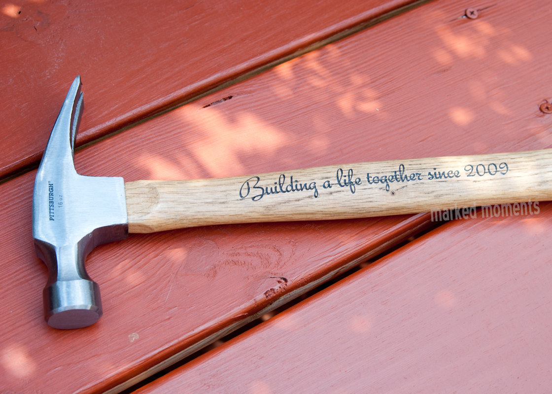Custom Hammer Engraved with Name, Monogram, or personal message of your  choice 16oz father's day groomsman best man gifts for guys from Marked  Moments