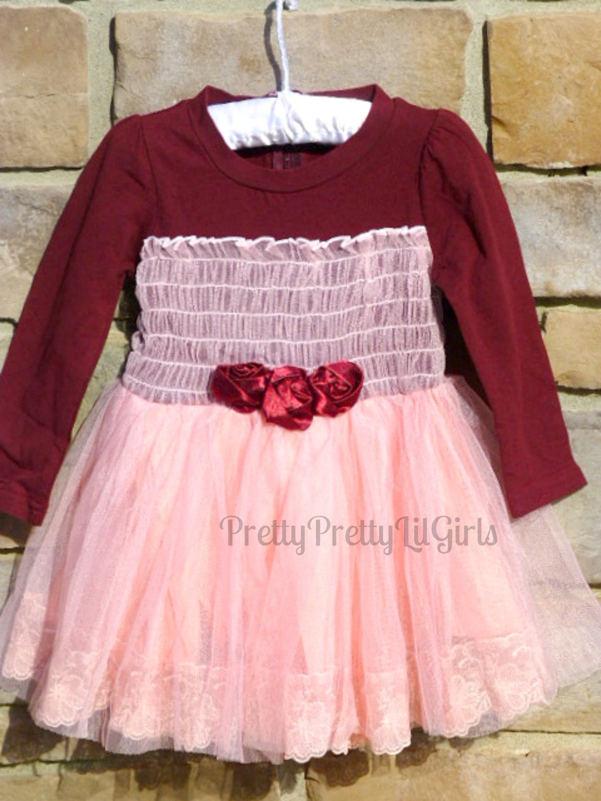 Red Girls Dress Girls Red Dress Flower Girl Dress Princess Dress