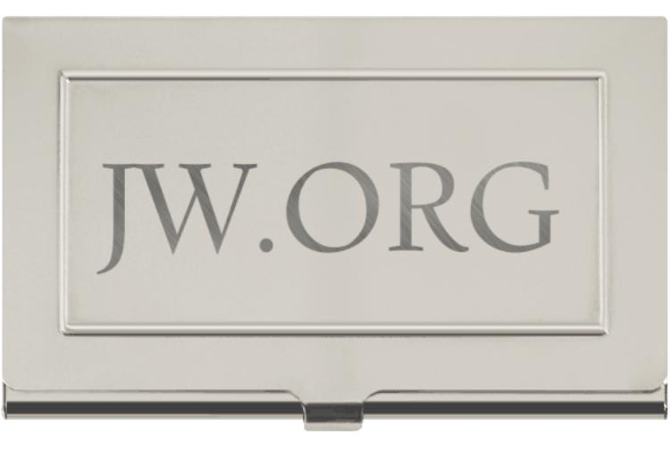 Free shipping jw engraved business card holder jehovahss businesscardholder original reheart Gallery
