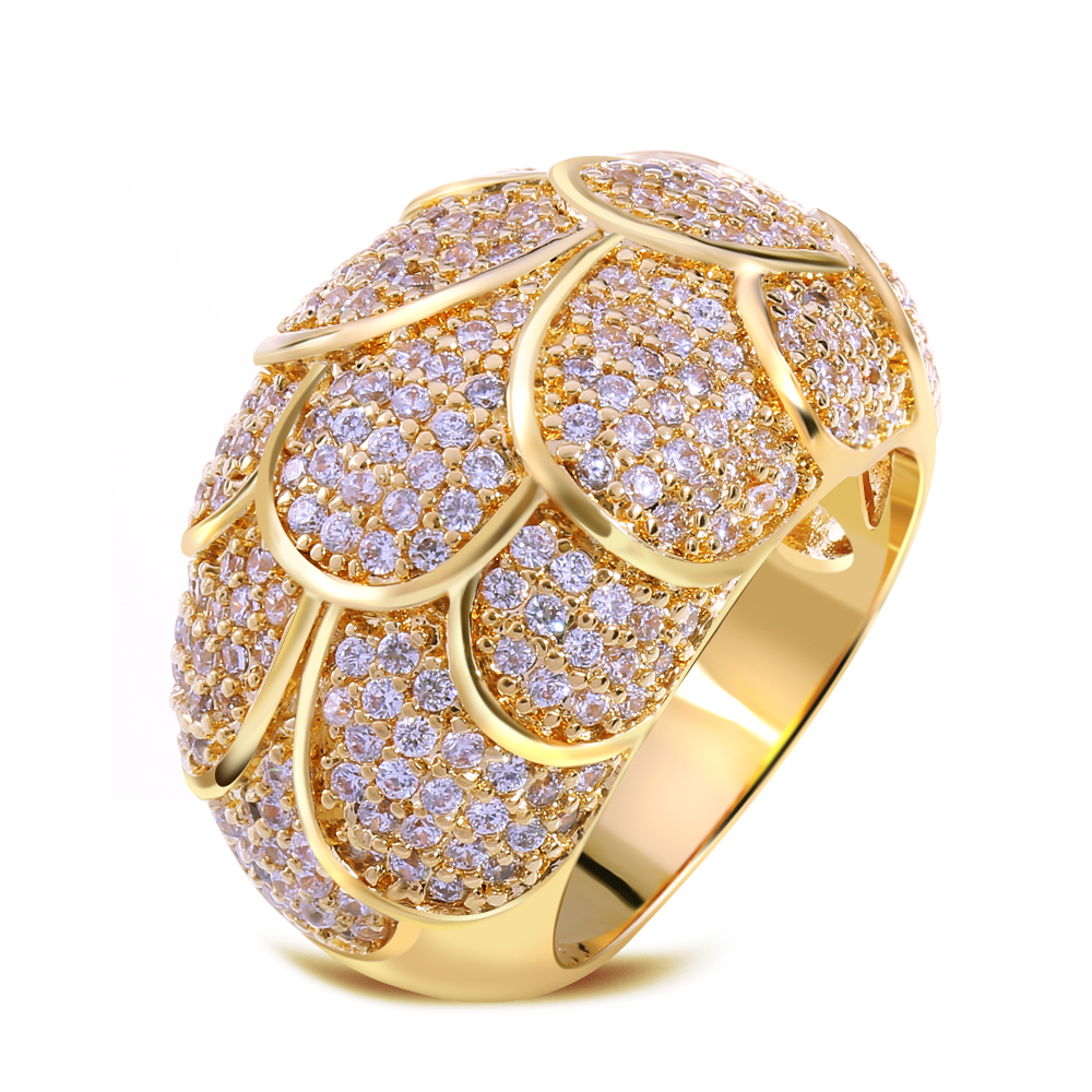 2f62aa61b Image of Unique Perlage Design Jewelry Women Ring 256pcs AAA White Cubic  Zirconia Setting Geometric Party