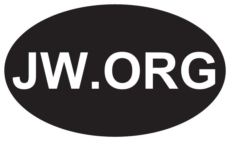 Free Shipping Oval Jw Bumper Sticker Ministry Jehovahs