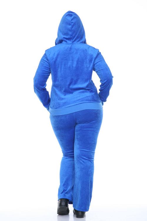13eadf2fb1d White Mark Women s Velour Tracksuit 2-piece Set Royal Blue (Plus ...