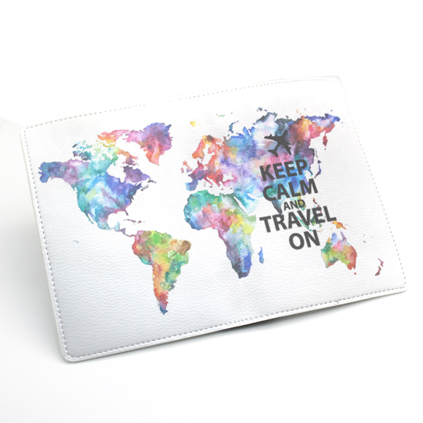 World Map Passport Holder.Pu Leather Passport Holder Case Cover Travel Wallet Colorful