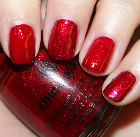Zoya karina vs china glaze ruby pumps swatch original