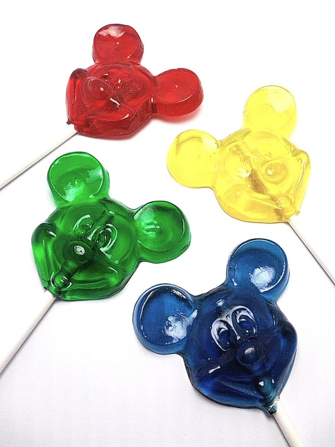 12 Mickey Mouse Lollipops Hard Candy 183 Candied Cakes