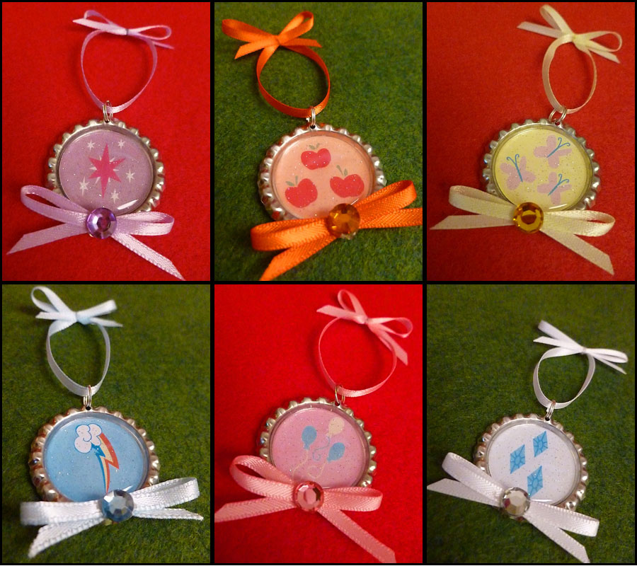 Mlp Christmas.Mlp Christmas Ornaments Mane 6 Set Hearths Warming Handmade From Monostache