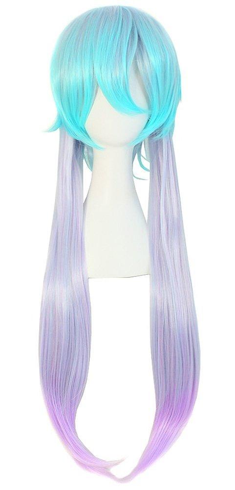 Anime Short Top W Long Straight Hair Anime Wig 75 Cm Color