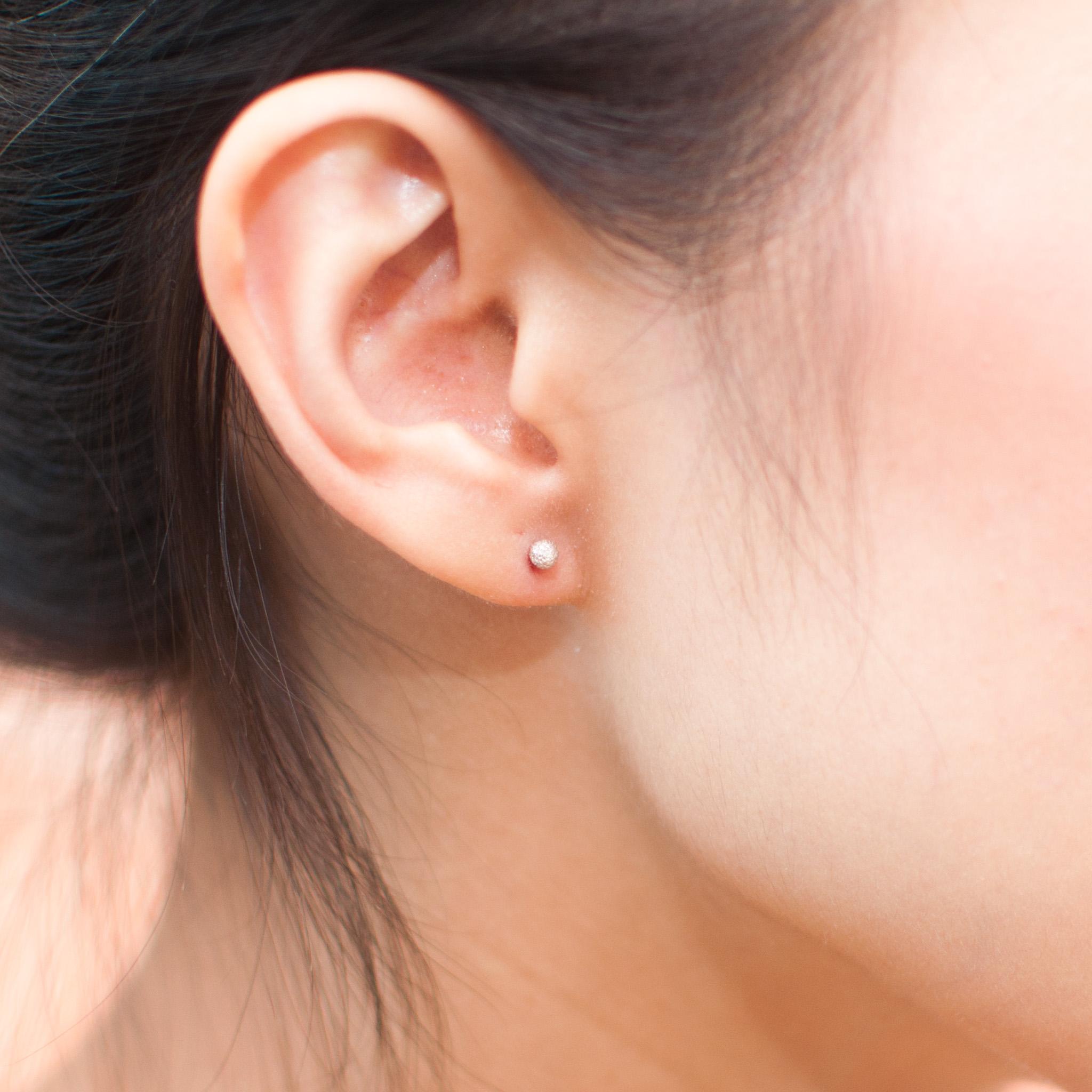 5bd93dbb74b8c8 Tiny Crystal Sterling Silver Stud Earrings, Earrings For Women ...