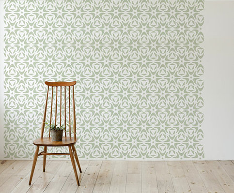 Moroccan Floral Style Scandinavian Wall Stencil For Diy