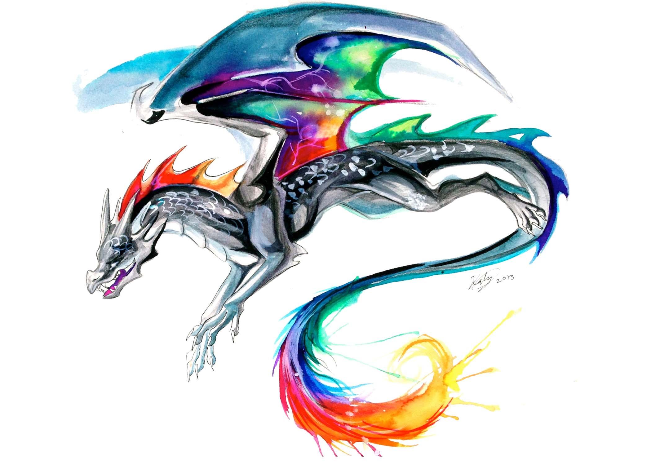 Rainbow Dragon Print Katy Lipscomb Online Store Powered By