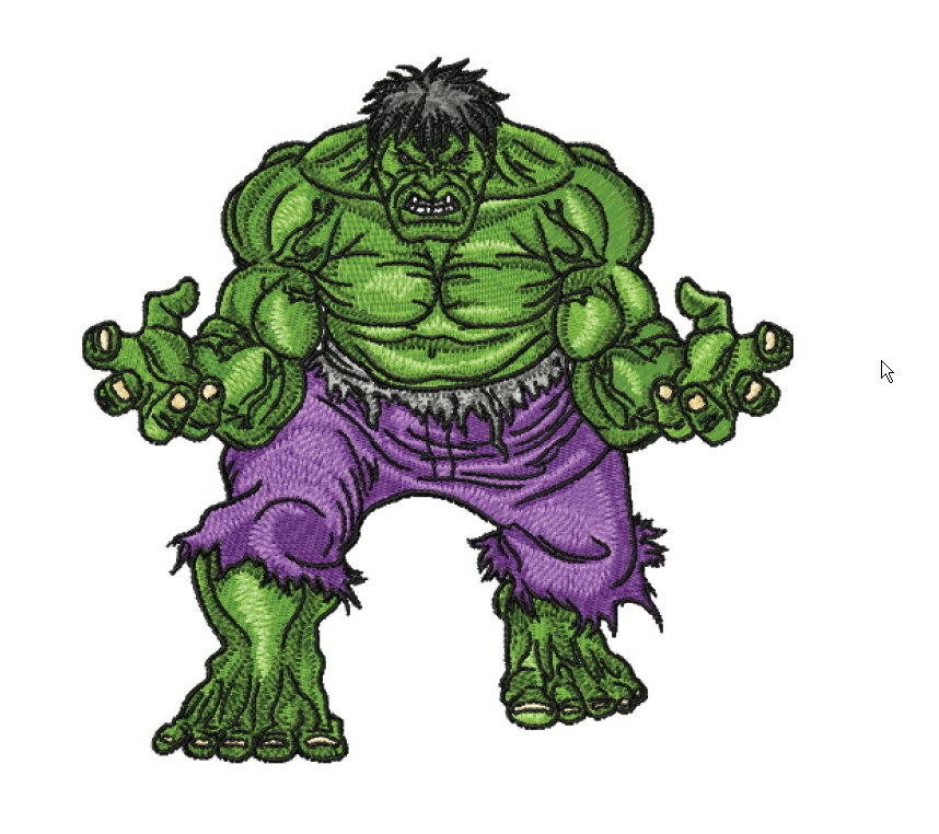 The Incredible Hulk Filled Machine Embroidery Design In 4 Sizes On Storenvy