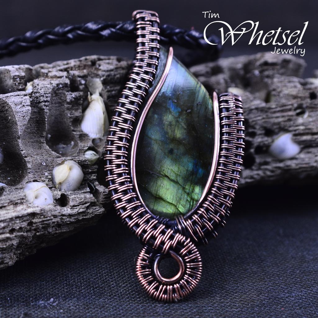 Labradorite Necklace B Handmade Jewelry 183 Wire Wrapped