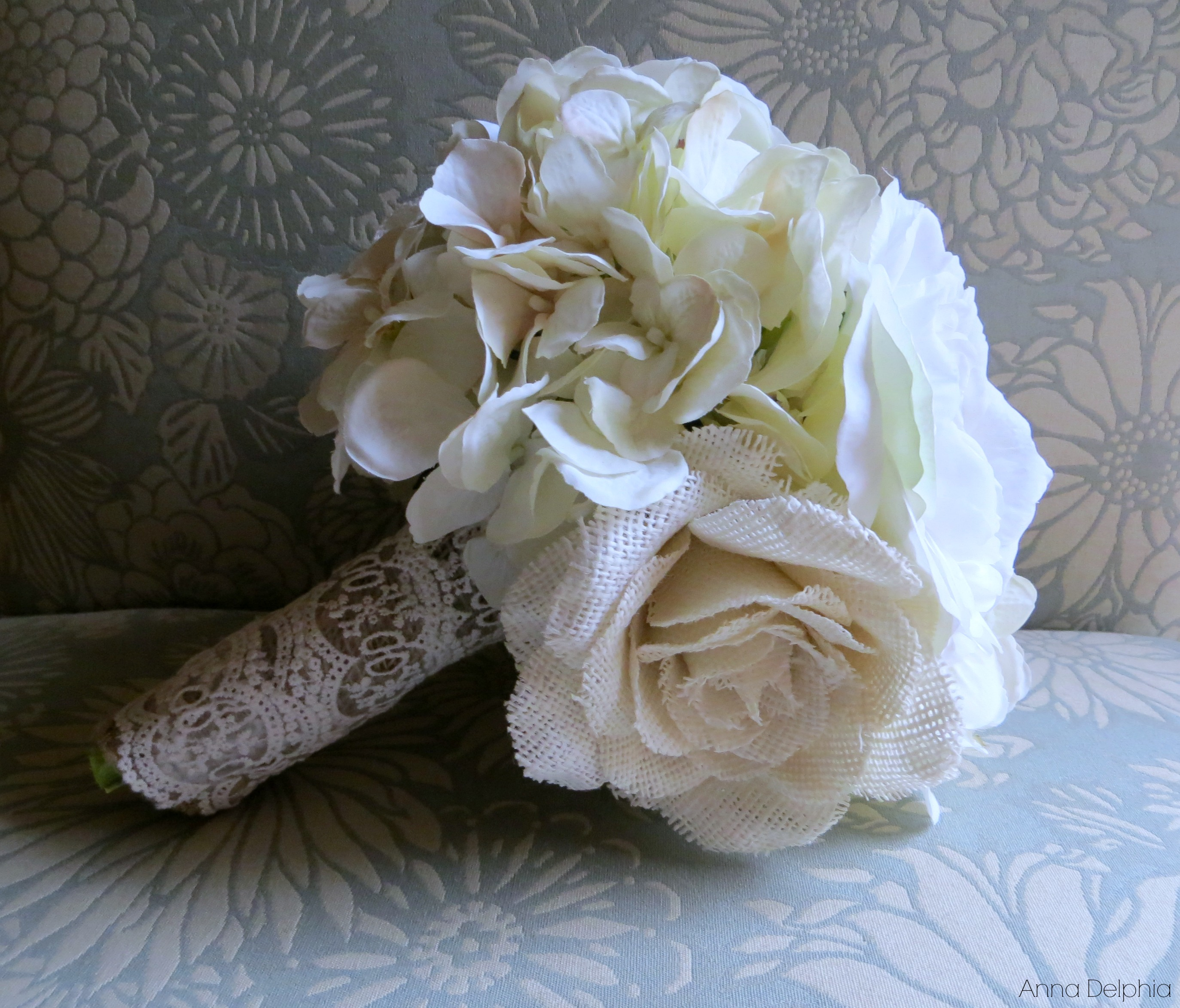 White and cream silk bouquet classic silk white cream roses shabby chic flower arrangement bridal accessory wedding bouquet from the shabby chic white and cream silk bouquet classic silk white cream roses shabby chic flower arrangement izmirmasajfo