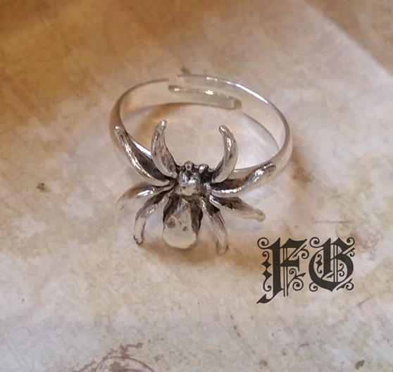 Antique Silver Spider Ring