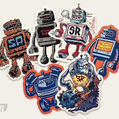 Sticker robot pack by sticker robot aka zoltron