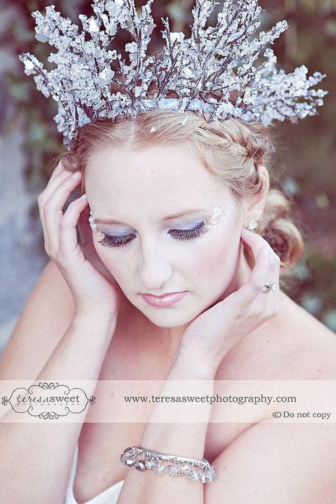 Winter Fairy Snow Queen Crown Faeryspell Creations Custom