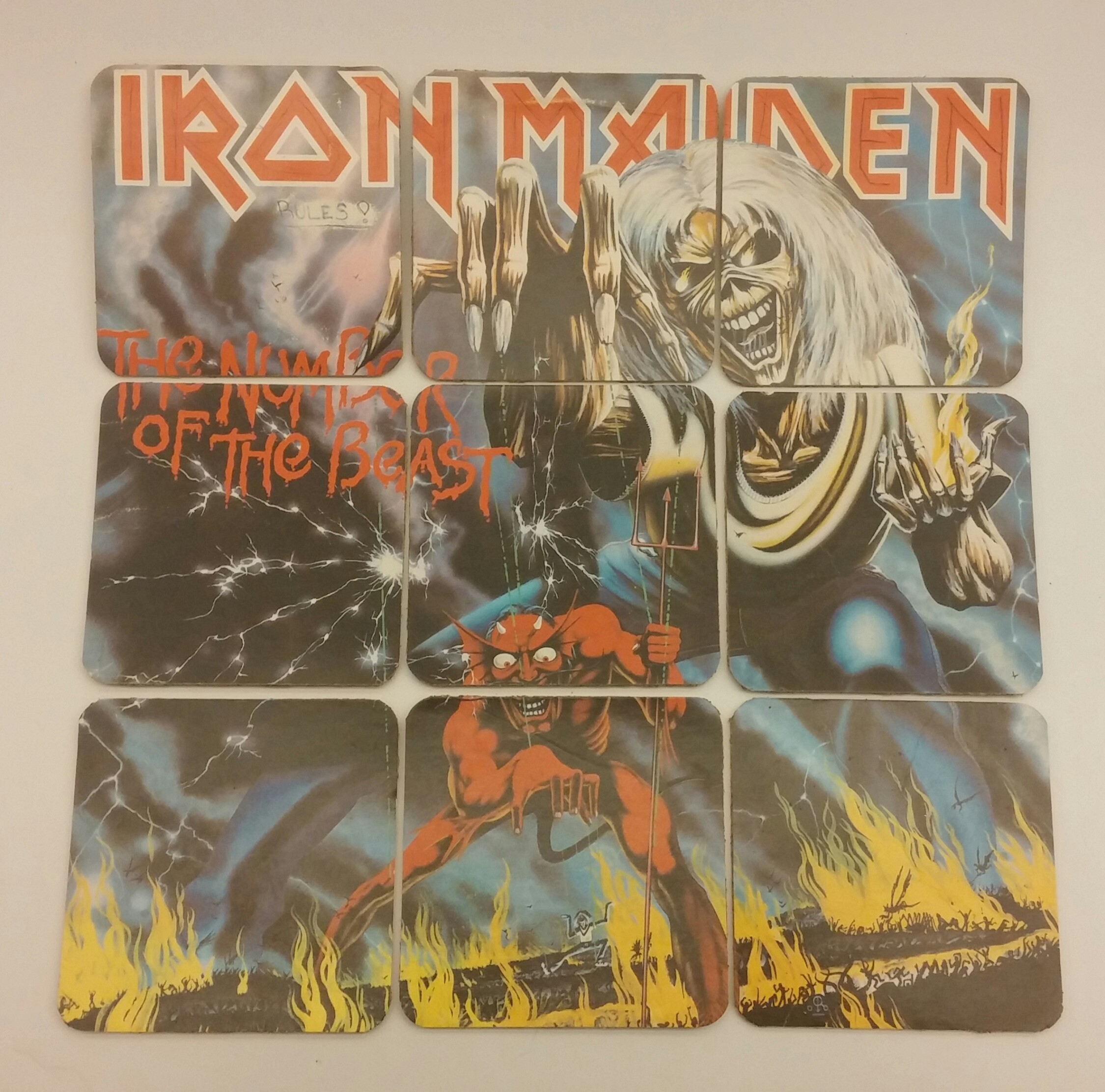 iron maiden the number of the beast album coaster set on storenvy