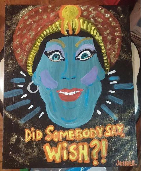 "Nail Art Jambi: Jambi Painting ""Did Somebody Say Wish?"" Pee-Wee's"
