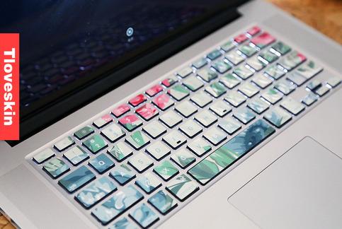 Flower Macbook Keyboard Decal Macbook Pro Keyboard Skin Macbook Air Sticker Macbook Vinyl