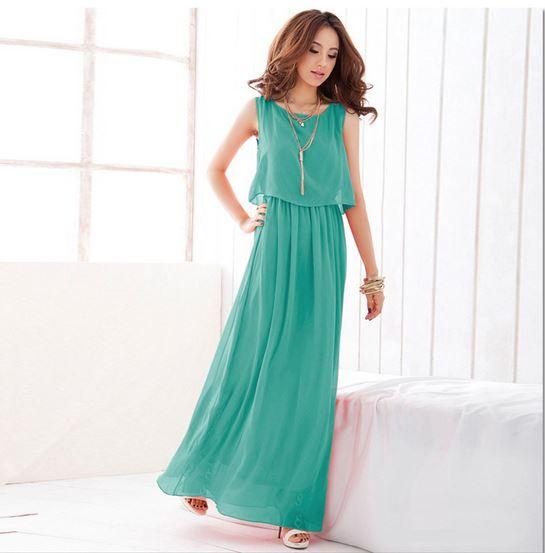 Chiffon Summer Maxi Dresses