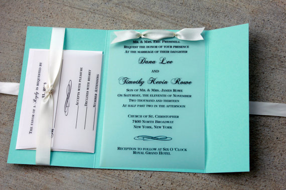 Robin Egg Blue Wedding Invitations on Storenvy