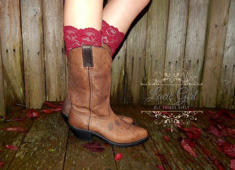 044d097b9 ... Lace Boot Socks with vintage Lace trim and buttons - Thumbnail 4