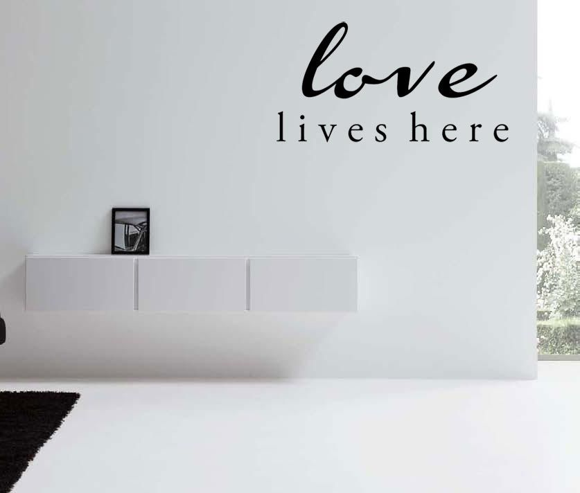 Love Lives Here Vinyl Wall Decal Quote Sticker Art On Storenvy