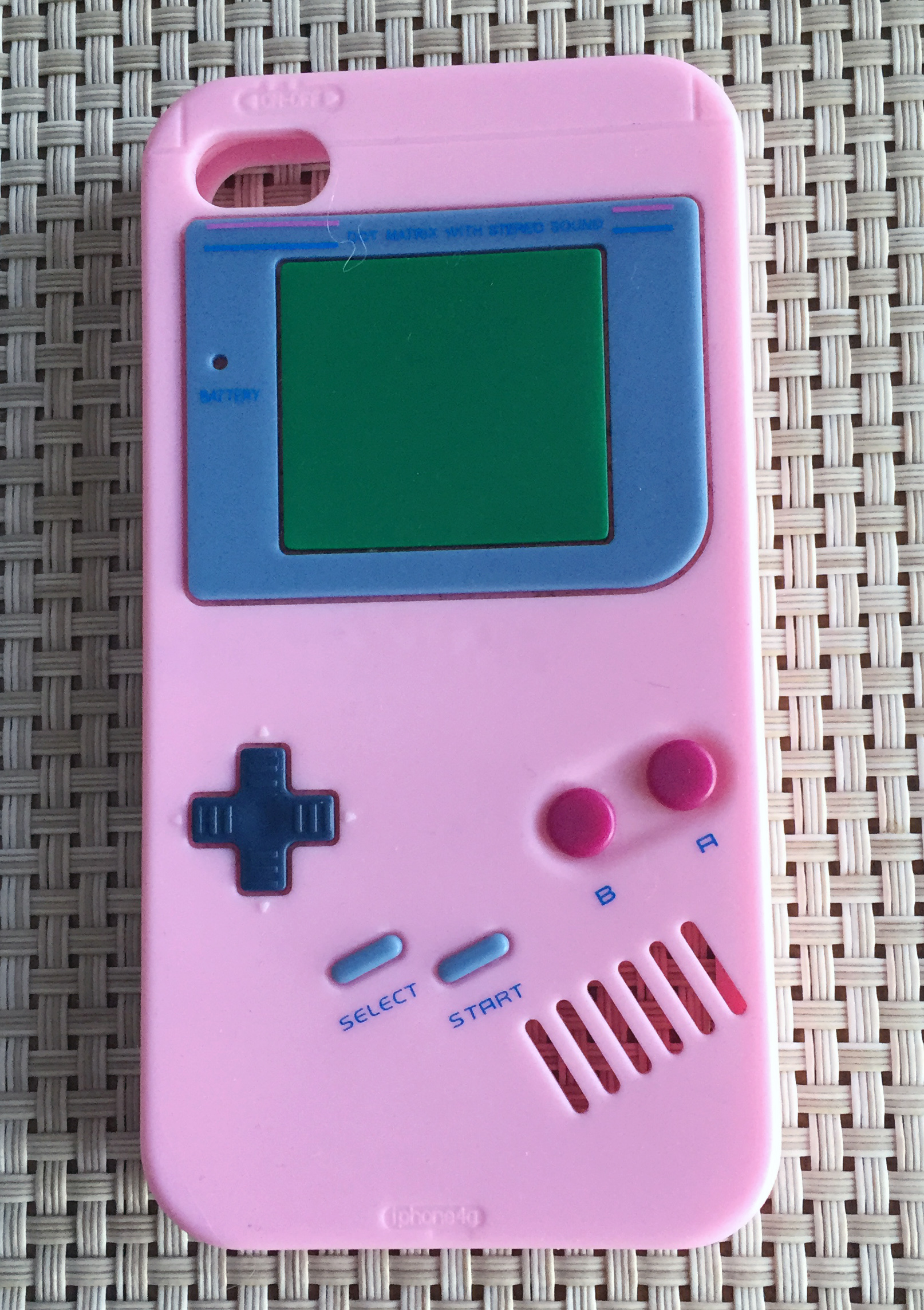 buy online 147aa 2dbf5 Pink Silicone Retry Style Ninendo GameBoy Color Case for iPhone 4 4s