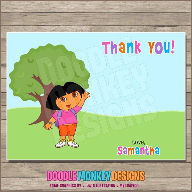 Dora The Explorer Party Invitation Diy Printable Digital Invite Sold By Doodlemonkeydesigns
