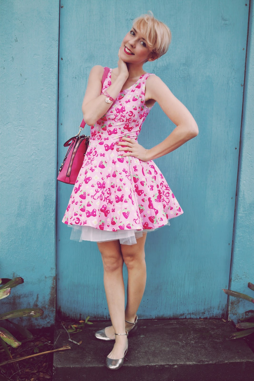 Strawberry ribbon Skater Dress MADE TO ORDER · Holley Tea ...