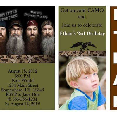 Browse more Birthday Invitations. Duck dynasty ...