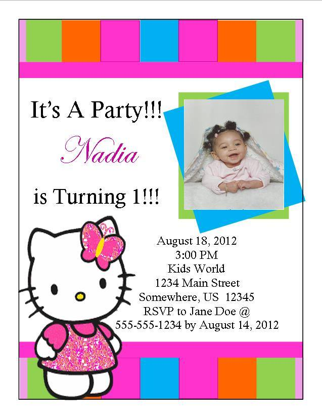 Hello Kitty Birthday Invitation 9