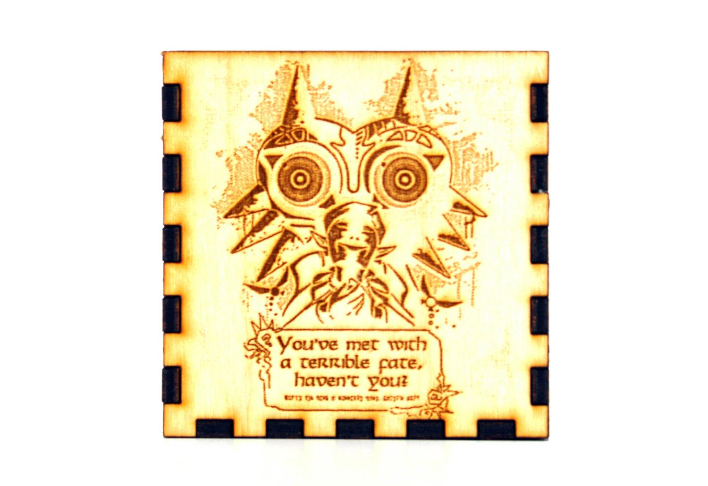 Legend of Zelda: Majora's Mask Wooden Engraved Charm Box