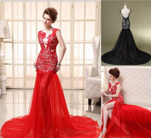 Redand Black Military Ball Dresses