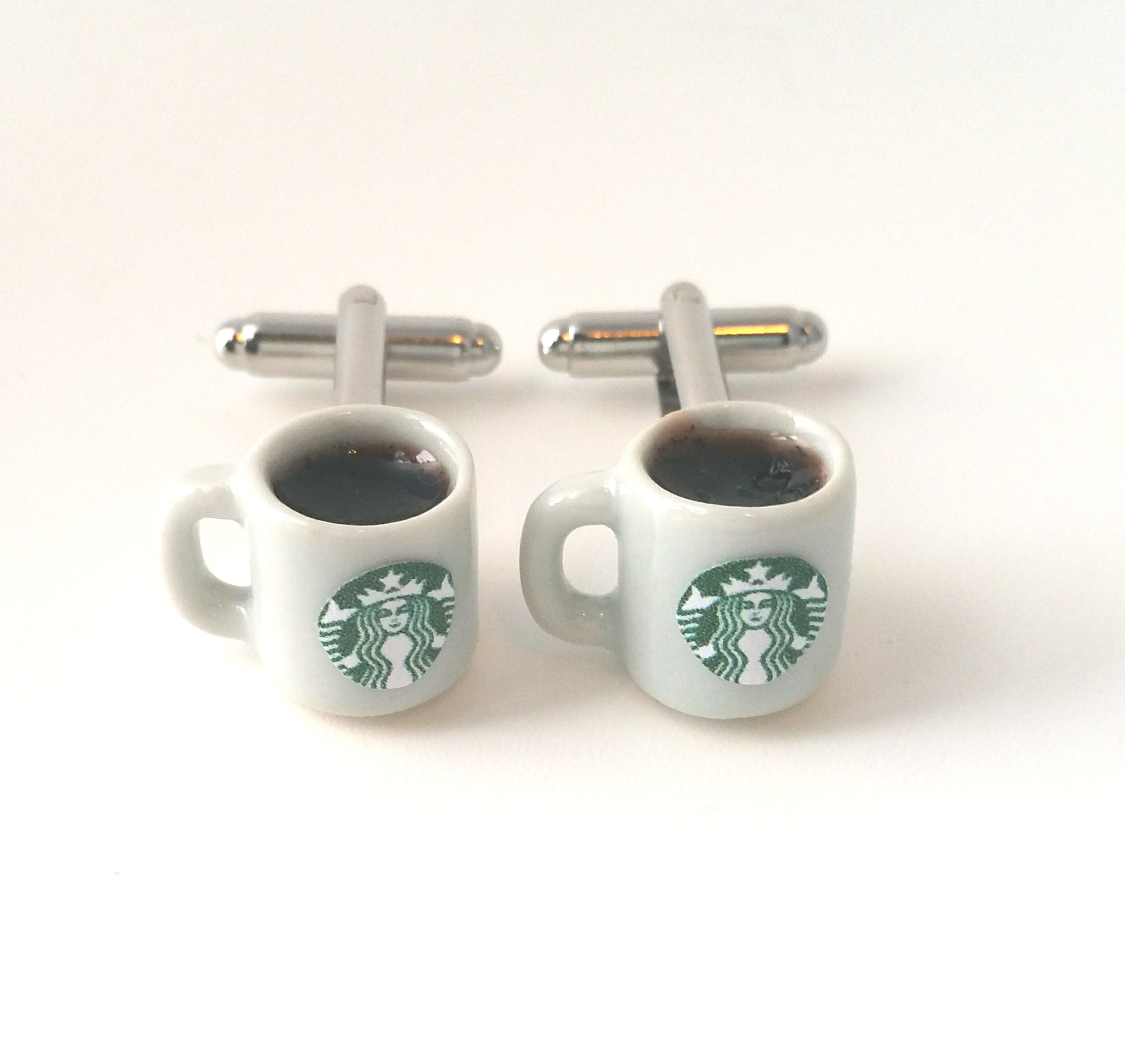 Kawaii Miniature Starbucks Coffee Cufflinks