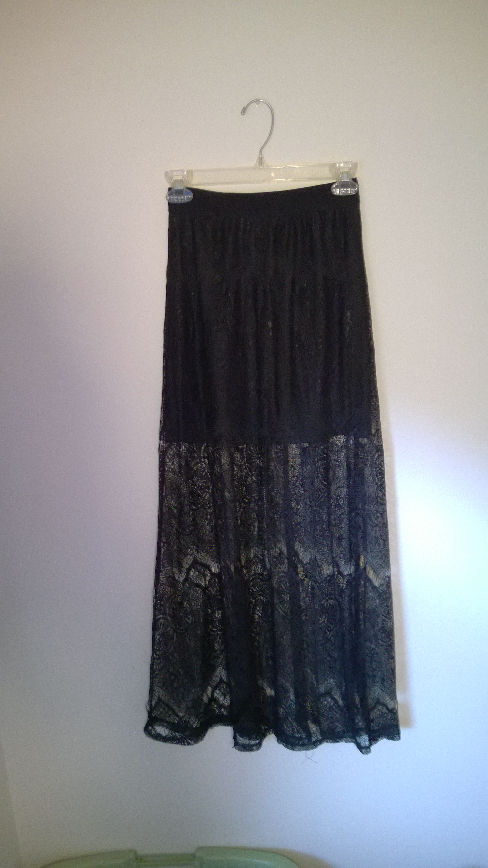 online sports shoes united kingdom Black sheer lace maxi skirt sold by Saylor Jayn